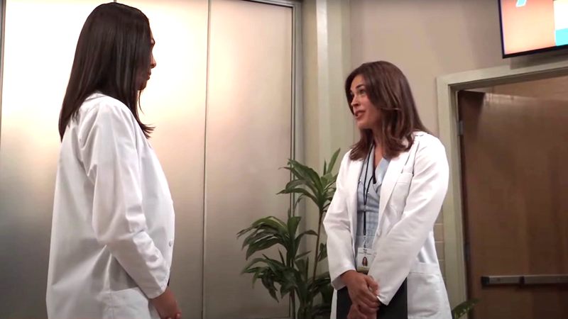 General Hospital: Dr. Britt Westbourne (Kelly Thiebaud) and Dr. Terry Randolph (Cassandra James)