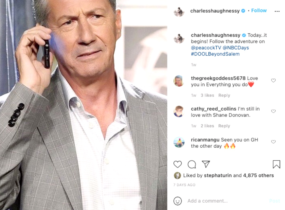General Hospital (GH) Spoilers: Charles Shaughnessy Speaks Out On Joining GH